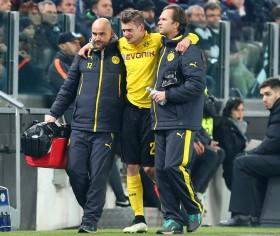 Lukasz Piszczek musste verletzt raus