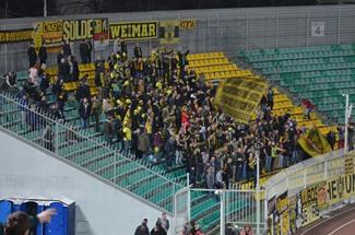 Etwa 350 Fans begleiteten den BVB nach Krasnodar