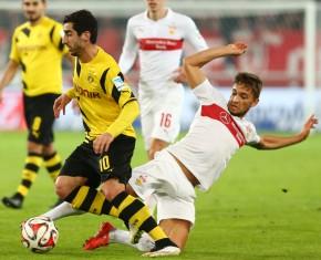 Henrikh Mkhitaryan im Duell gegen den VfB Stuttgart
