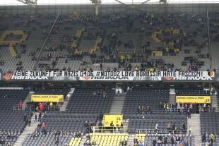 Aufruf vor dem Spiel gegen den 1. FC Köln