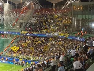 Etwa 1300 BVB-Fans hielten ordentlich dagegen