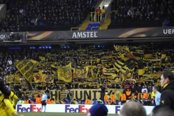 Etwa 1800 BVB-Fans waren mitgereist