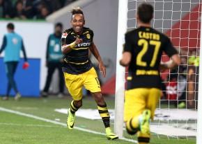 Aubameyang bejubelt seinen zweiten Treffer