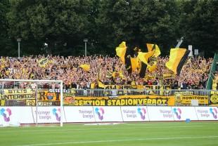 Über 1.000 BVB-Fans im Gästeblock