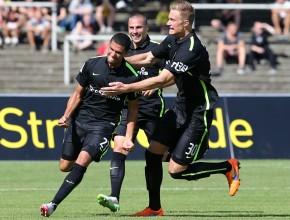 Aachener Torjubel zum 1:0