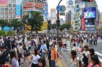 Shibuya: bis zu 15.000 Menschen pro Ampelschaltung