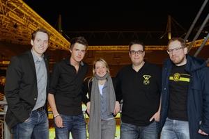 Neuer Fanabteilungs-Vorstand: von links Michael Röhr, Tobias Westerfellhaus, Christina Gassner, Torsten Schild und Jakob Scholz