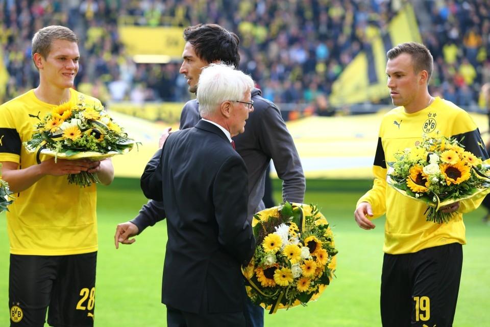 Blumen für die Weltmeister