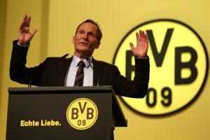BVB-Geschäftsführer Hans-Joachim Watzke während der Mitgliederversammlung 2015