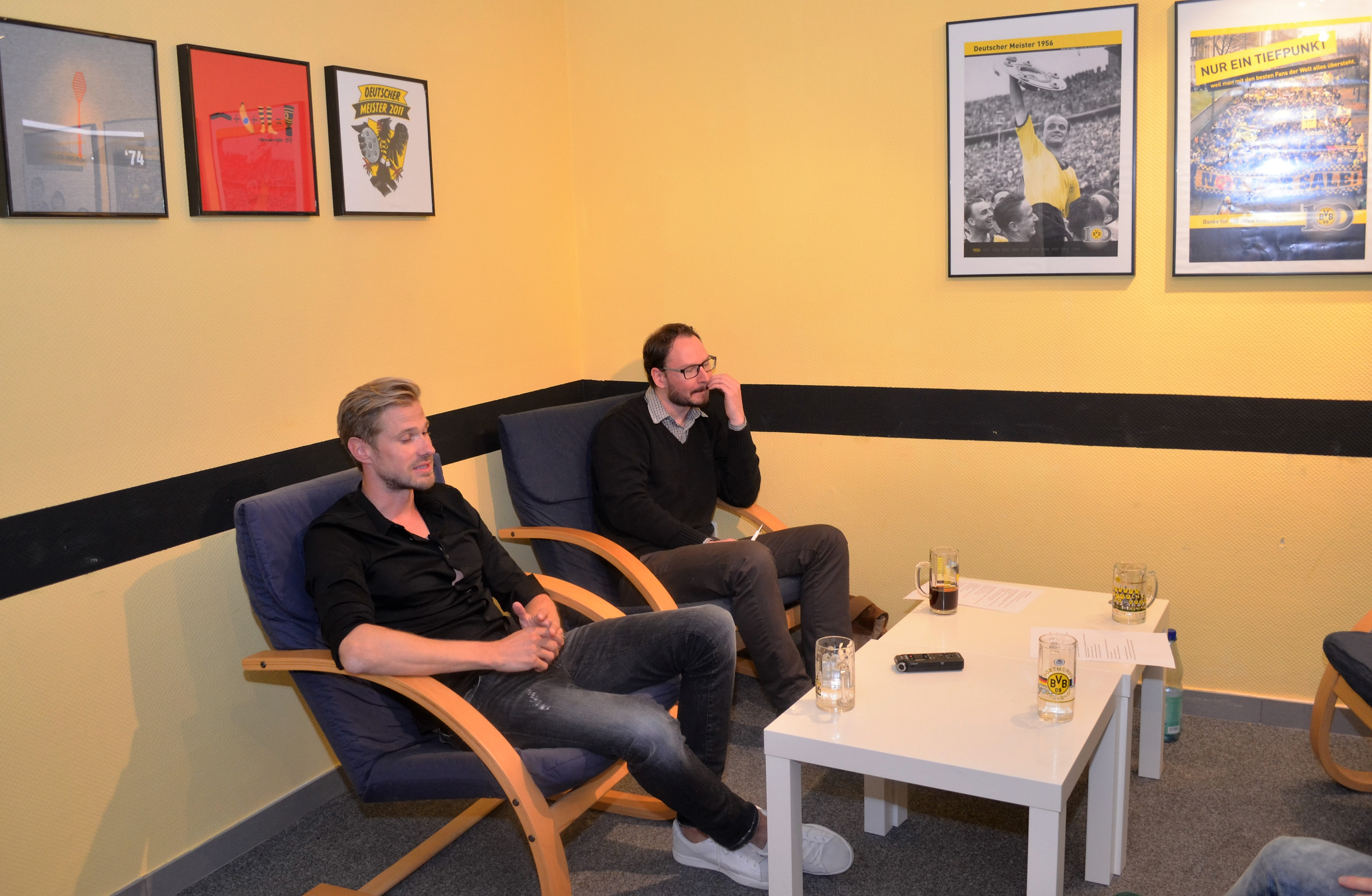 Oliver Kirch zu Besuch bei schwatzgelb.de