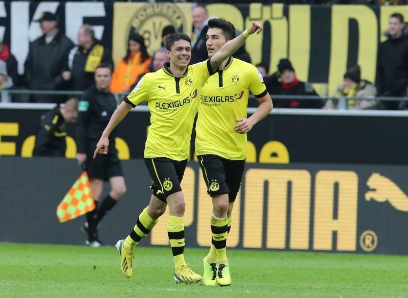Bittencourt bejubelt seinen ersten Bundesliga-Treffer