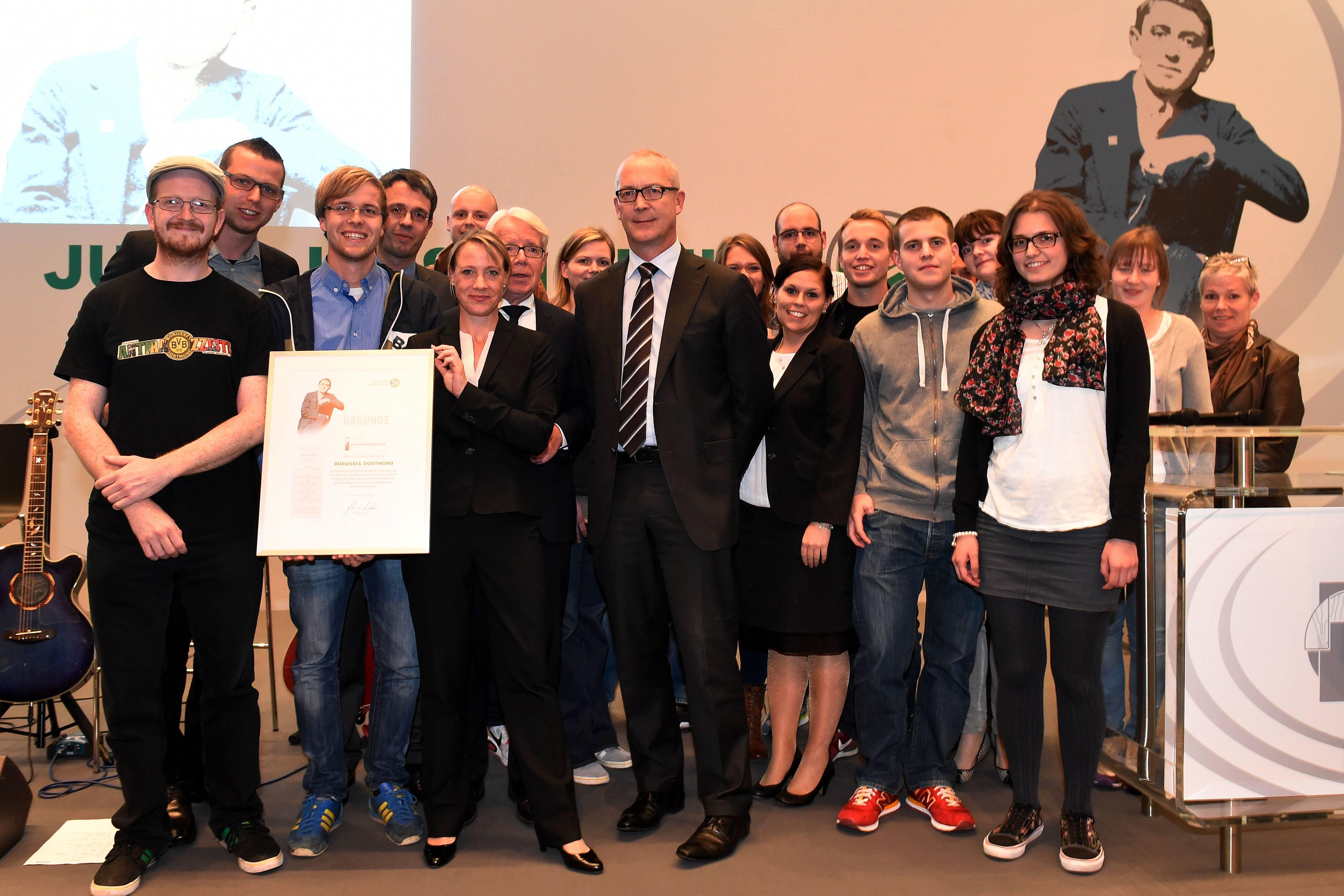 Übergabe des Julius-Hirsch-Preises