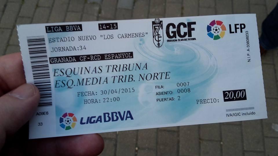 Eintrittskarte Granada - Espanyol Barcelona