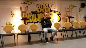 Bonmann erzählt den Schülern vom Leben als Fußballer