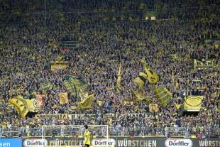 Die Formkurve der Südtribüne zeigte gegen Leverkusen wieder nach oben