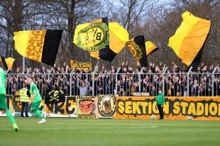 Auch in Rödinghausen war das Stadion in schwarzgelber Hand
