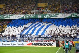 Aktion der Berliner Fans im Gästeblock