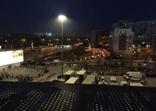 Szene vom Hinspiel in Lissabon