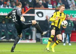 Das Duell Drobny gegen Reus endete mit einem Platzverweis