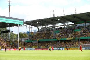 Aufgrund der Streckensperrung bei Rastatt verpassten viele Fans das Spiel im Pokal
