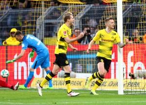 Dortmunder Torjubel zum 1:0