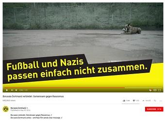 Der BVB veröffentlichte 2014 ein Video gegen Rassismus