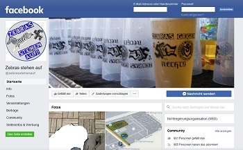 """Die Facebook-Seite von """"Zebras stehen auf"""""""